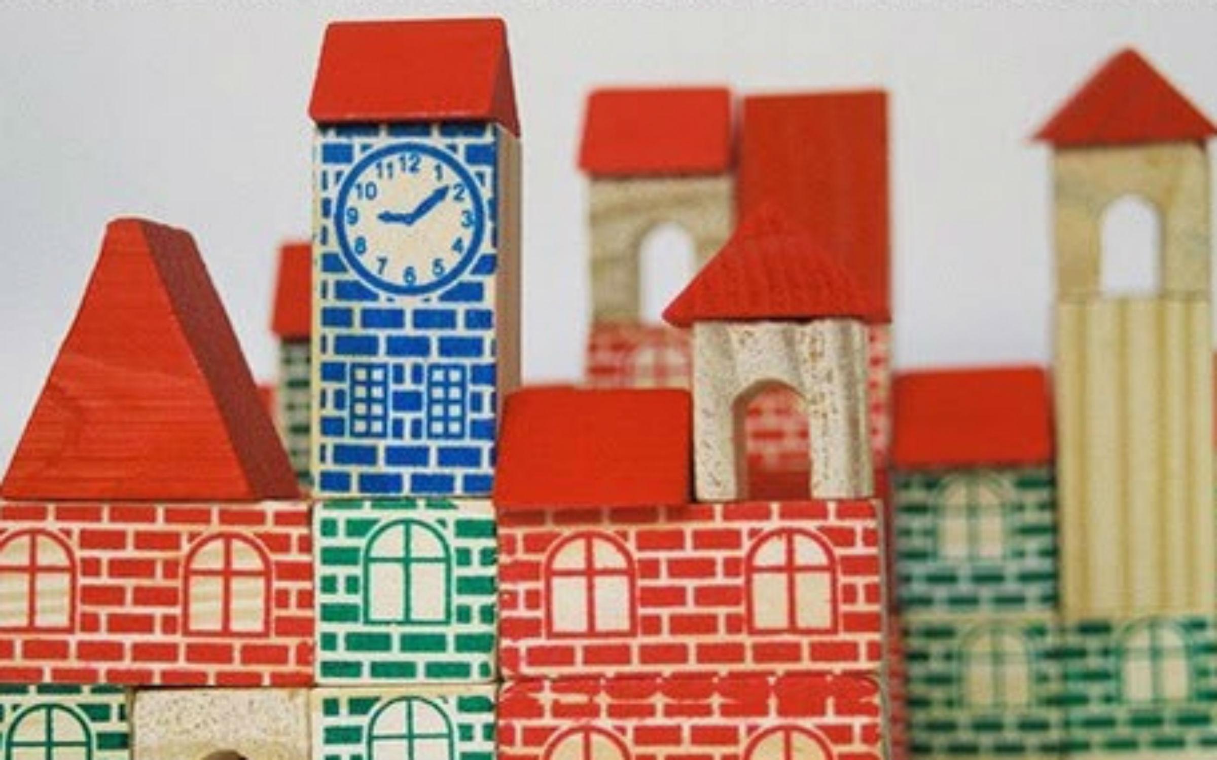 castelo madeira blocos bloquinhos brinquedo antigo relogio bigbang 1 #104687 2400x1500