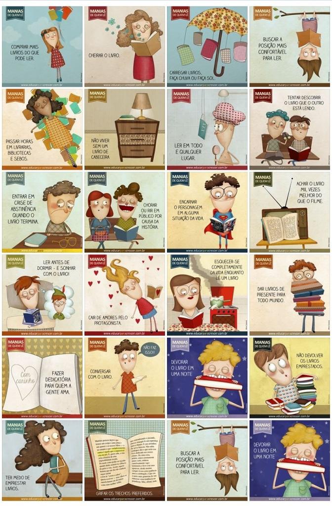 manias de quem lê